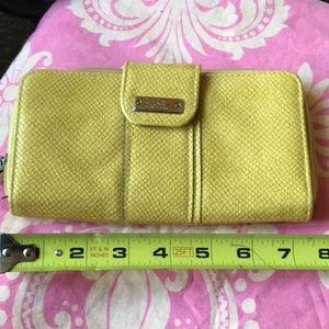 Yellow wallet NWOT